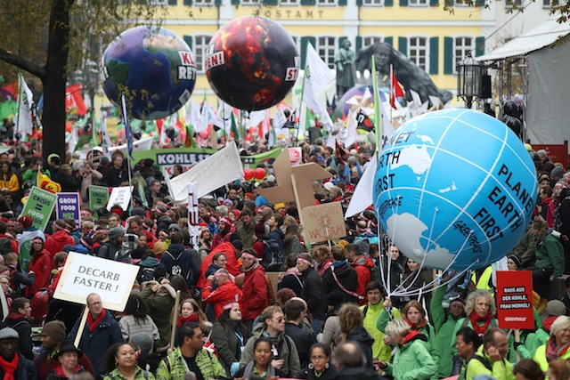 Anti-Coal Protesters March In Bonn Ahead Of COP23 Climate Conference